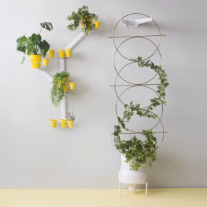 Tower Planter with Hoop Trellis