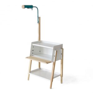 Easy Bedside Table With Conduit Light