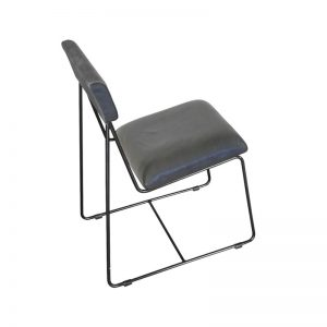 Industrial Dining Chair | Leather