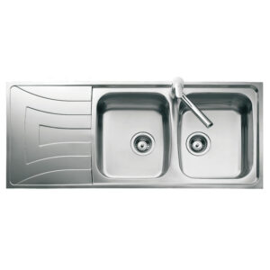 Kitchen Sink 2 Bowls And 1 Drainer Stainless Steel 1165X520MM