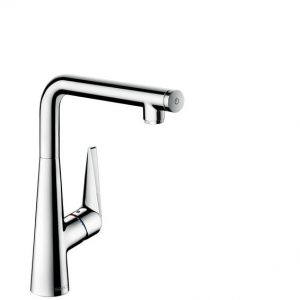 Kitchen Tap Lever Mixer With Pull Out Spray HANSGROHE Talis Select S Chrome
