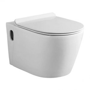 Suspended Toilet Wall Hung Pan+Seat Ceramic Bijiou Amour White 360x560x340MM