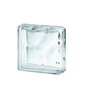 Glass Block SEVES Clear Wave Corner End